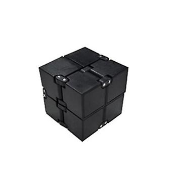 Infinite Rubik's Cube Spielzeug an den Fingerspitzen, Dekompression Rubik's Cube Spielzeug (Schwarz)