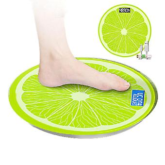 lemon Pattern Bathroom Scale USB Electronic Body Weight Scales