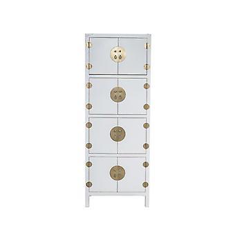 Delikatna azjatycka szafka chińska Królewna Śnieżka W67xD45xH180cm - Orientique Collection