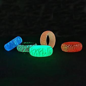 5pcs Secretwooden lichtgevende ring glow in the dark legering vinger ring voor partij viering