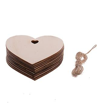 20pcs الحب قطعة ليزر النقش رقائق الخشب 2mm خشبية Craifts زينة عيد الميلاد الرئيسية