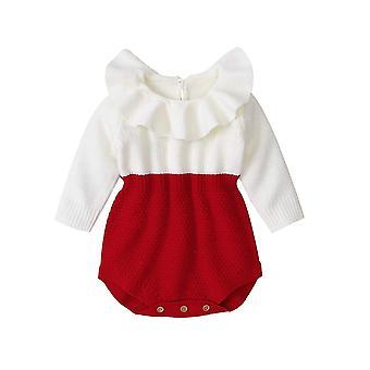 Vêtements pour bébés nouveau-nés Rompers Wool Knitting Tops Manches longues Tenues chaudes
