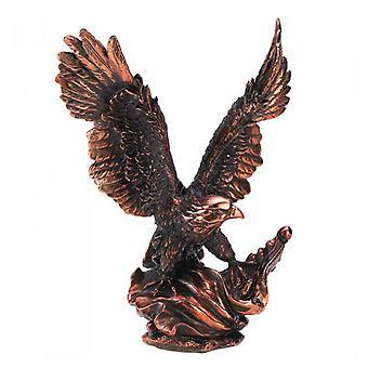Accent Plus Bronze-Look Eagle in Flight Statue, Pack of 1