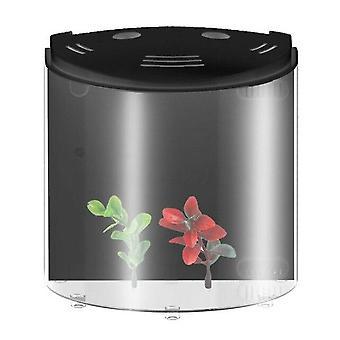 5L fish tank USB LED filtratie simulatie water planten draagbare mini aquarium home decor (zwart)