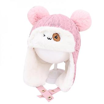 Children's Knitted Hats Cute Cartoon Baby Warm Hats Baby Ear Protection Hats