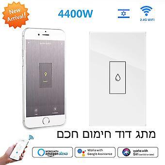 الذكية الحياة واي فاي المرجل سخان المياه مفاتيح 4400w 20a التحكم الصوتي يعمل اليكسا جوجل الموقت المنزلي وظيفة تويا لإسرائيل