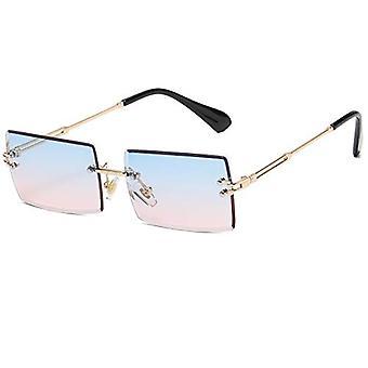 Gafas de sol cuadradas para mujeres Hombres Sin montura Moda Rectángulo Gafas de sol Uv Protection Retro Vintage Gafas de sol para mujer (degradado)