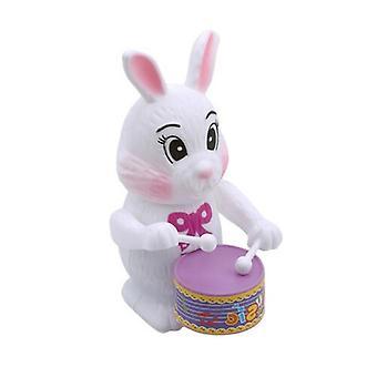 Gyerekek Happy Rabbit Verte Dobos Retro Óramű Wind Up Ón Toy