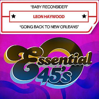 Leon Haywood - Baby heroverwegen / terug te gaan naar New Orleans USA import