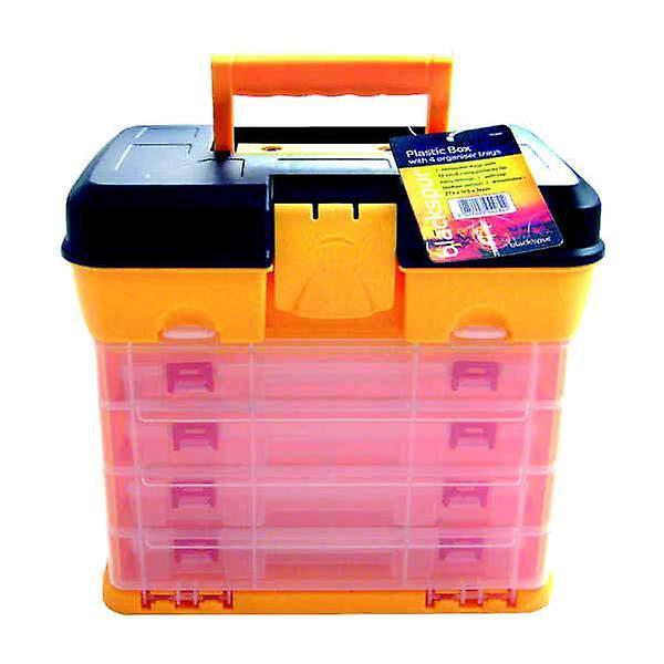 Plastic Box with 4 Organiser Trays