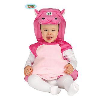 Rosa hippopotamus Hippo drakt Hippopotemes flodhesten baby 10-24 måneder