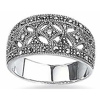 Modieuze Marcasiet Ring Zilver 925