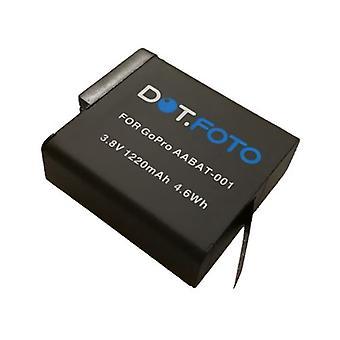De batterij van de vervanging van de GoPro AABAT-001 van Dot.Foto - 3.8v / 1220mAh - GoPro-HERO5