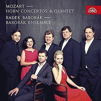 Mozart / Baborak, Radek / Baborak Ensemble - Mozart: Horn Concertos & Quintet [CD] USA import