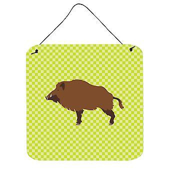 Carolines Treasures  BB7762DS66 Wild Boar Pig Green Wall or Door Hanging Prints