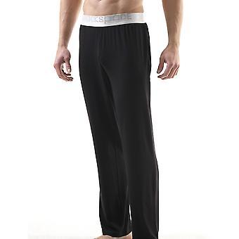 BlackSpade prata preto Modal Mens Long calças M9304