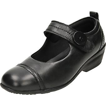 Dr Keller Mary Jane Black Leather Shoes