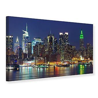 Lona impresión horizonte Nueva York Midtown en la noche