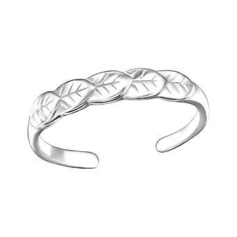 Leaves - 925 Sterling Silver Toe Rings - W26186X