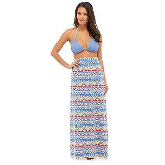 Ladies Beachwear Aztec Print Polycotton Fashion Maxi Skirt Various Colours & Sizes