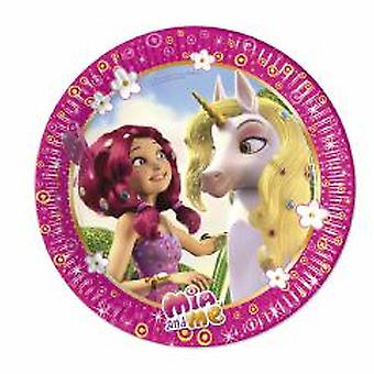 MIA & me Elf Unicorn party plates Ø 23 cm 8 piece children birthday theme party