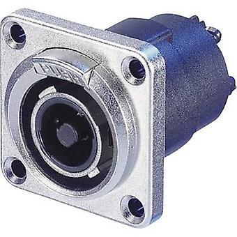 Neutrik NLT4FP Audio jack Plug, straight Number of pins: 4 Silver 1 pc(s)