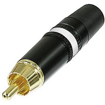 REAN AV-NYS373-9 RCA-connector stekker, rechte aantal pins: 2 zwarte, Wit 1 PC('s)