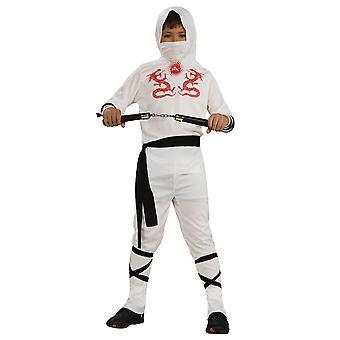 Hvit drage Ninja Stealth Assassin japanske Warrior bok uke gutter drakt