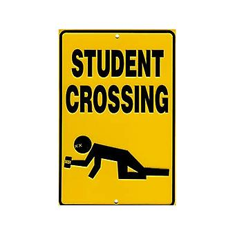 Signo de aluminio gofrado de cruce estudiante