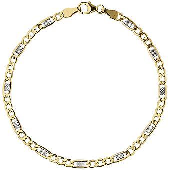 Steg tank strap 333 bicolor goud geel goud gouden armband 19 cm karabijnhaak
