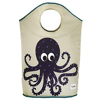 Laundry basket with handles Octopus Beige