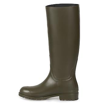 Saint Laurent olivgrün Regen Stiefel