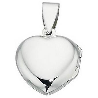 Beginnings Small Heart Locket Pendant - Silver