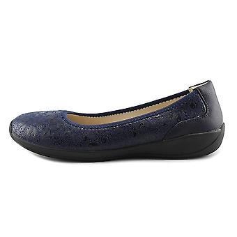 Eazies Womens Joyful Closed Toe Slide Flats
