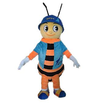 SPOTSOUND to bee mascot. mascot SPOTSOUND of orange and black insect