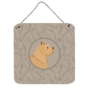 Norwich Terrier In the Kitchen Wall or Door Hanging Prints