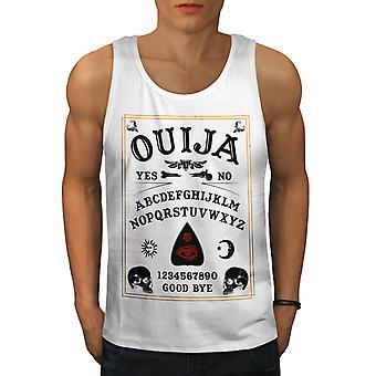 Ouija Horror Men WhiteTank Top   Wellcoda