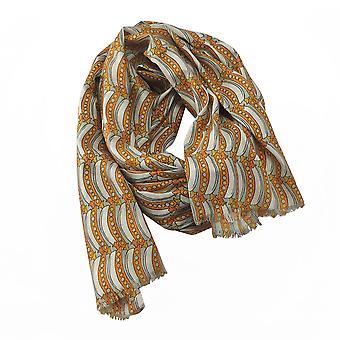 PEA Pod Design Frauen Damen Mode Schal Schal Wrap Geschenk Einheitsgröße Senf Farbe 100 % Viskose Pfingstrose