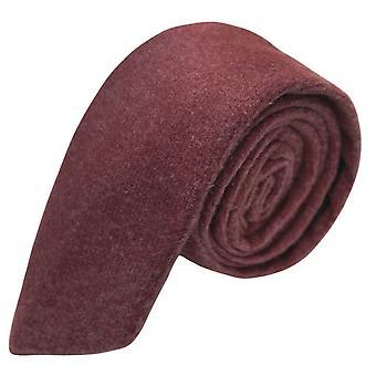 Luxe kastanjebruine rode Donegal Tweed Tie