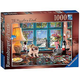 Ravensburger pussel skrivbord, 1000pc pussel