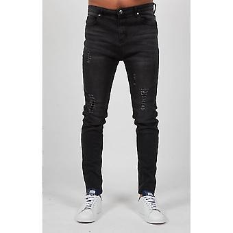 Altijd Tapered zeldzame noodlijdende Drop Kruis zwart Jeans