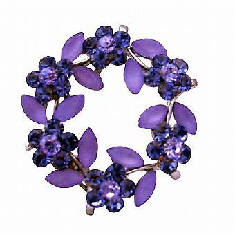 Olivgrön Layered Organza blomma Designer fantastisk klänning brosch Pin