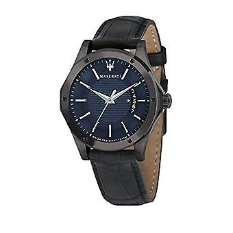 MASERATI Analog quartz men's watch with leather R8851127002