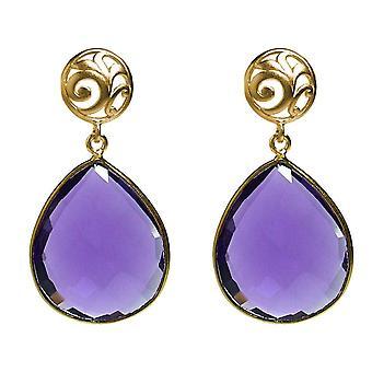 Gemshine korva korut violetti Amethyst jalokivi DROPS 925 hopea tai kullattu