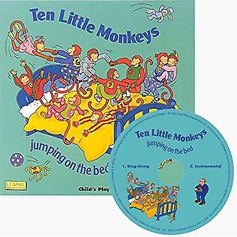 Tio små apor hoppar på sängen (klassiska böcker med hål styrelse bok)