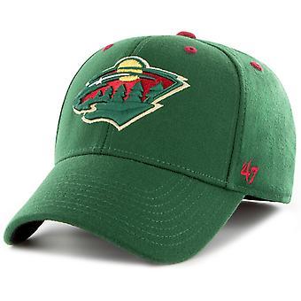 47 Brand Stretch Cap - KICKOFF Minnesota Wild dunkel grün