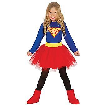 Girls Superhero Fancy Dress Costume