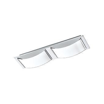 Eglo - Wasao 1 helder Chrome badkamer licht met opaal glas EG94882