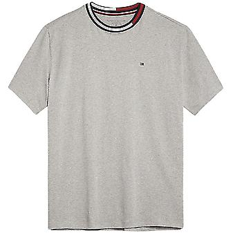 Tommy Hilfiger Signature Tape Short Sleeved Crew Neck T-Shirt, Grey, Small
