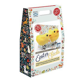 Easter Chicks Needle Felting Kit